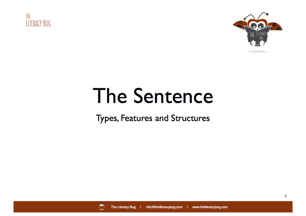 Select the image above for details on a  Literacy Bug  presentation on sentence structure.