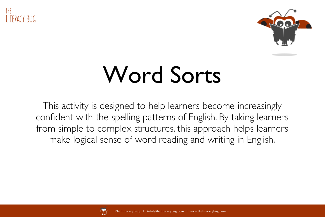 Words Sorts — The Literacy Bug