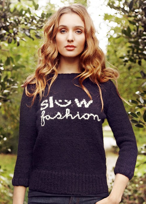 Slow fashion genser fra  People Tree .