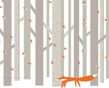 FOX IN THE WOODS, MOUNTED GICLÉE PRINT – FIINK DESIGN