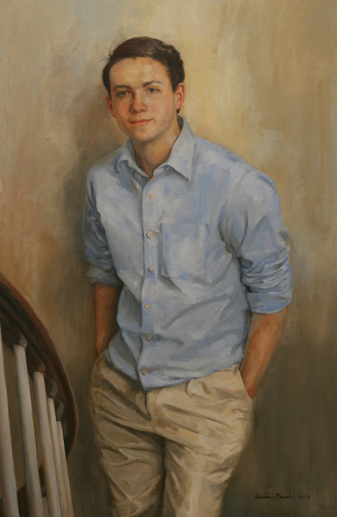 Young Man on Staircase