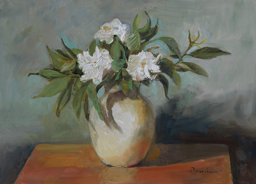 June Gardenias at my Studio