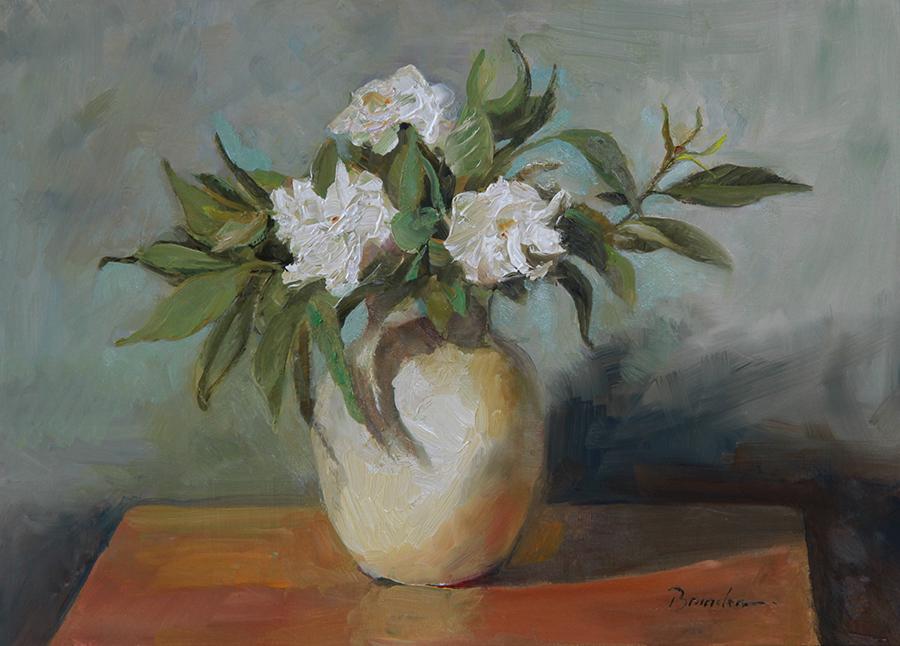June Gardenias at my Studio