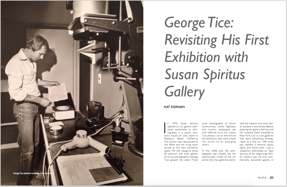George Tice: Revisiting His First Exhibition with Susan Spiritus Gallery  Don't Take Pictures, Issue 11 (September 2018)