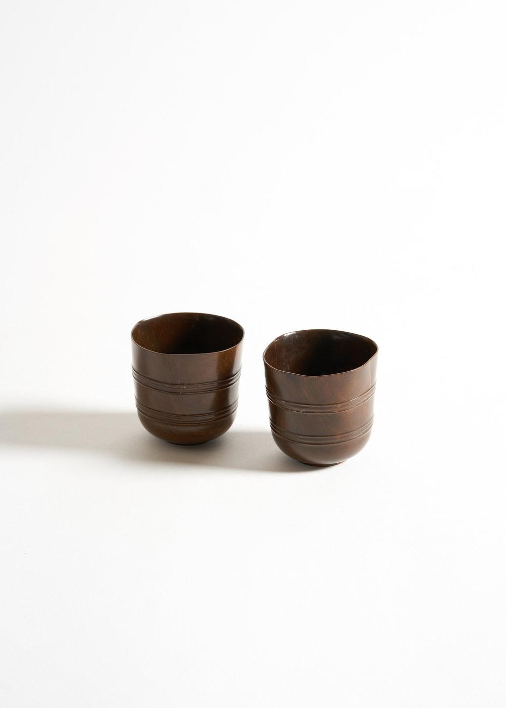 A Fine and Rare Pair of Lignum Vitae Dipper Cups