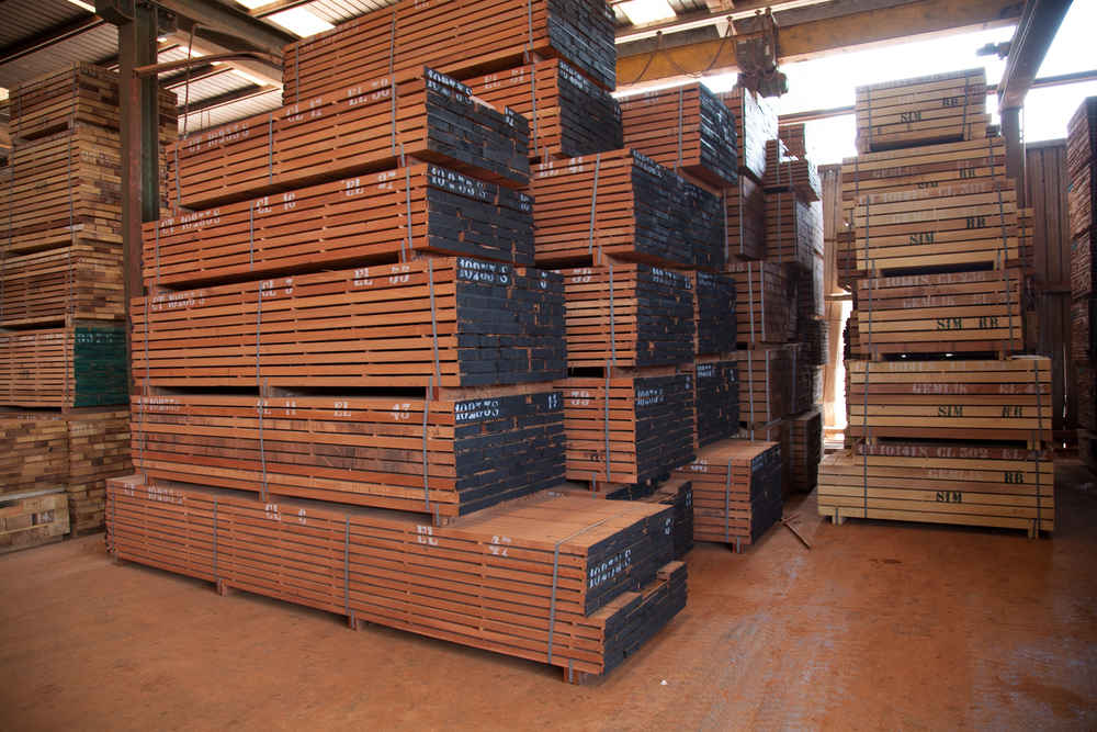 Stack of Lumber - Central Africa
