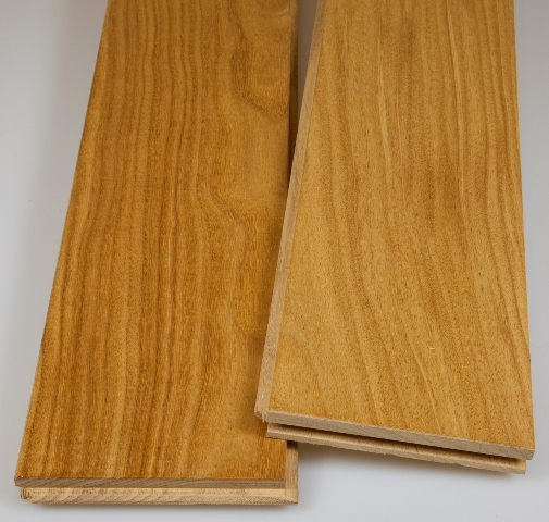 Solid Prefinished Afrormosia Hardwood Flooring
