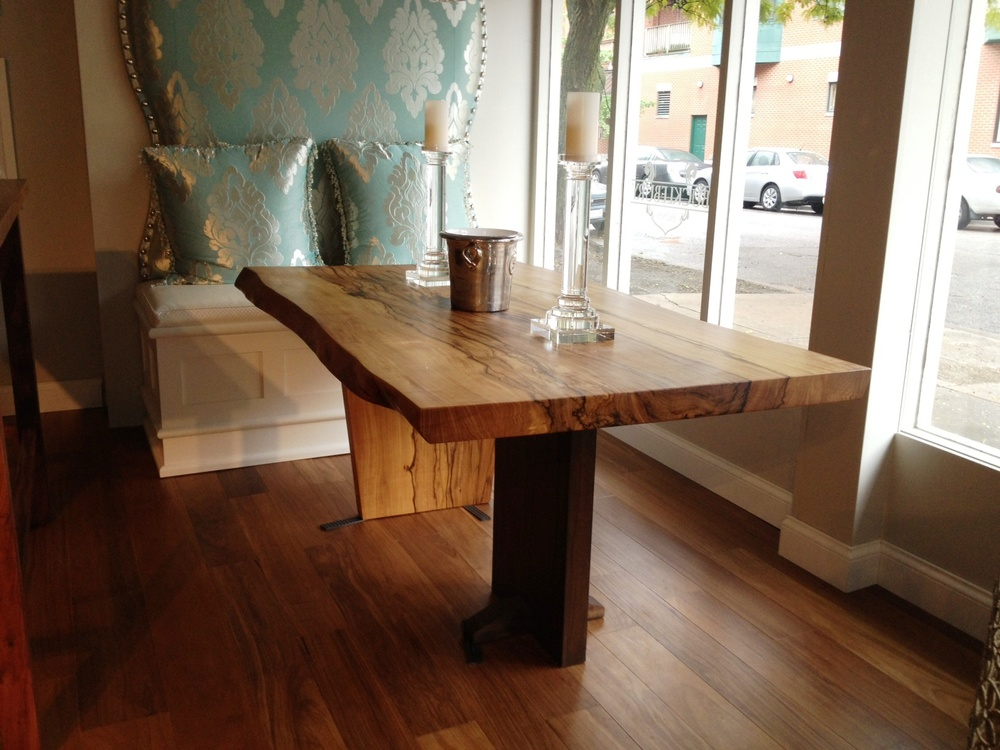 African Celtis Slab Table 6 Foot