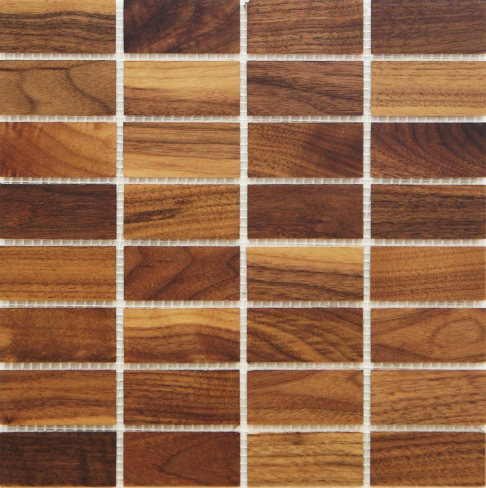 walnut 335mm x 77mm wood tile