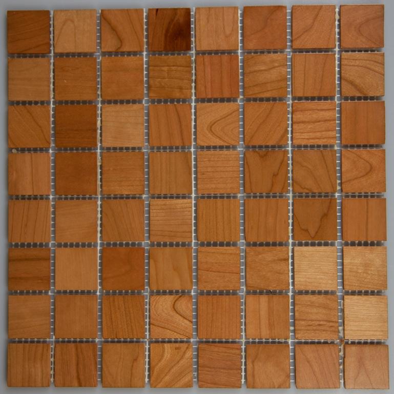 Cherry 33.5mm x 33.5mm Wood Tile