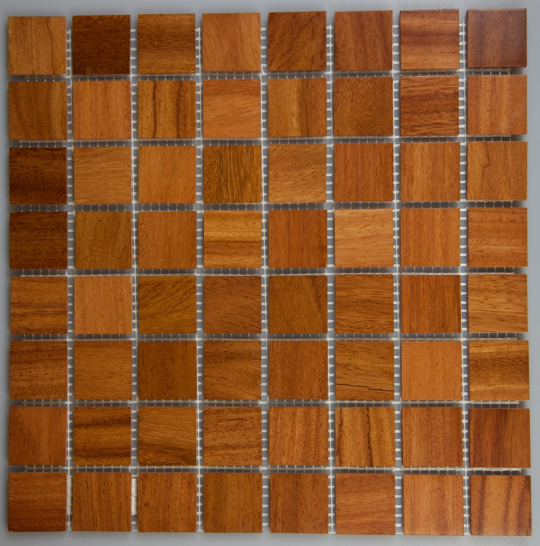 Doussie 33.5mm x 33.5mm Wood Tile