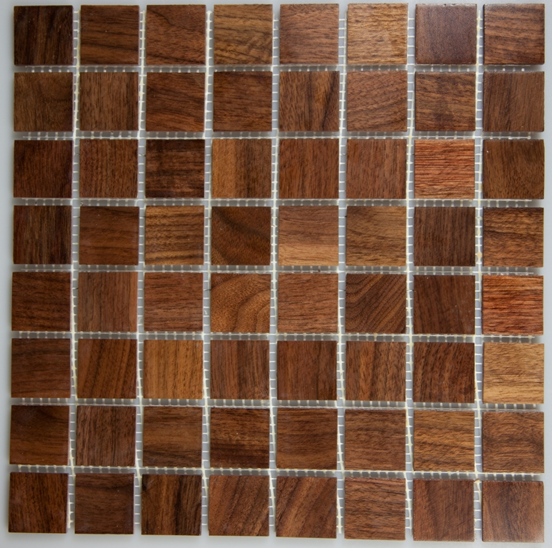 Walnut 33.5mm x 33.5mm Wood Tile