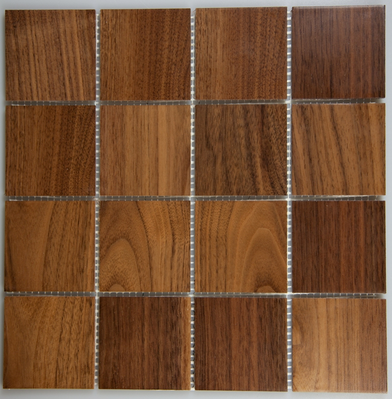 Walnut 77mm x 77mm Wood Tile