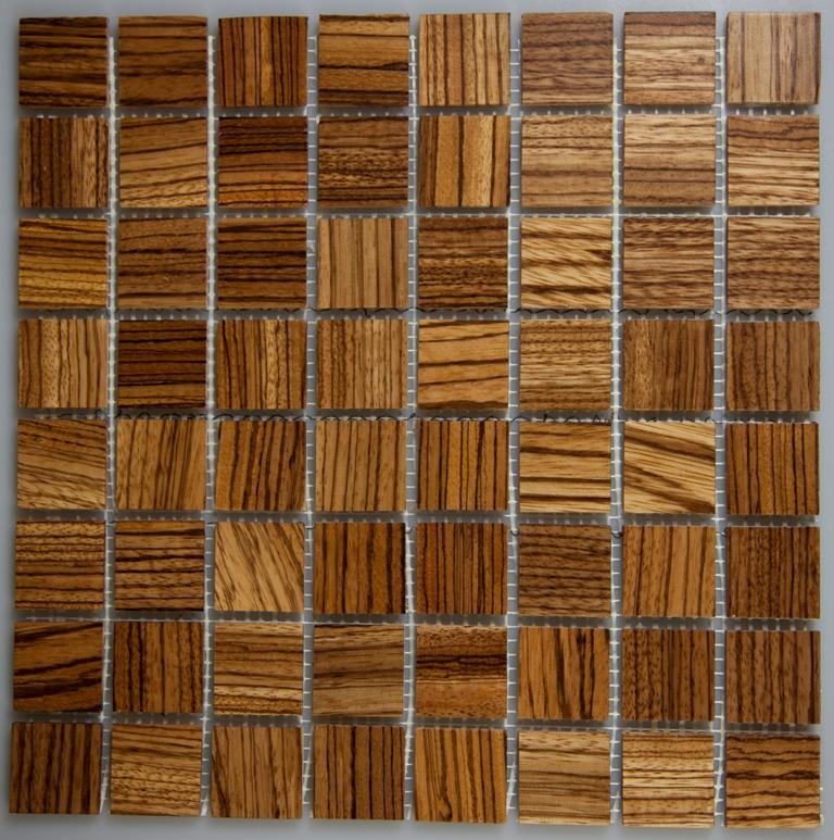 Zebrawood 33.5mm x 33.5mm Wood Tile