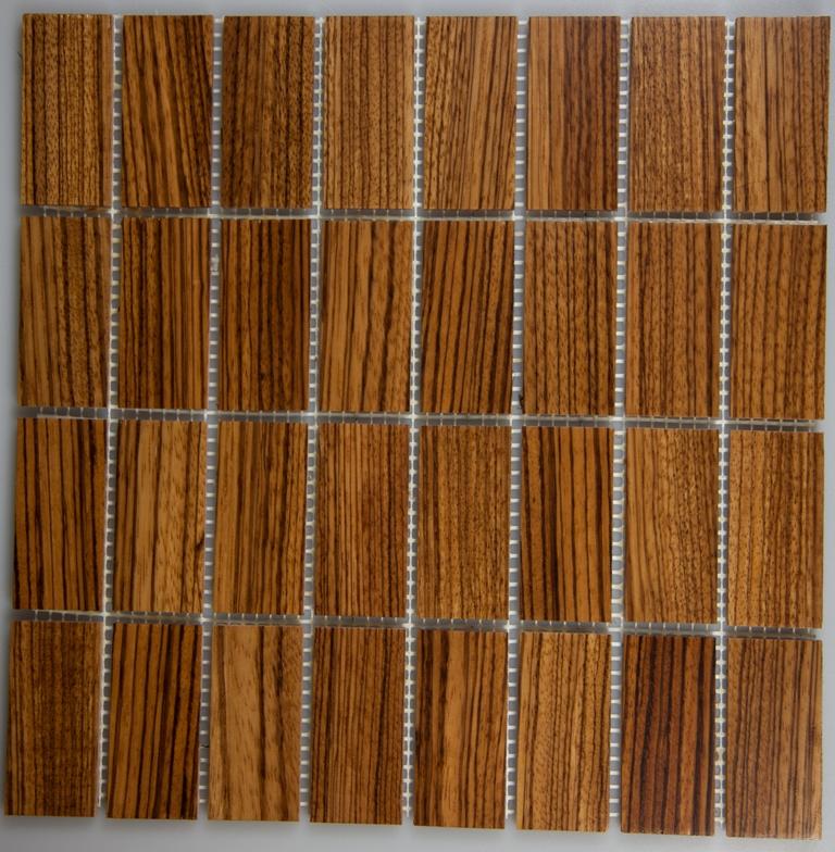 Zebrawood 33.5mm x 77mm Wood Tile