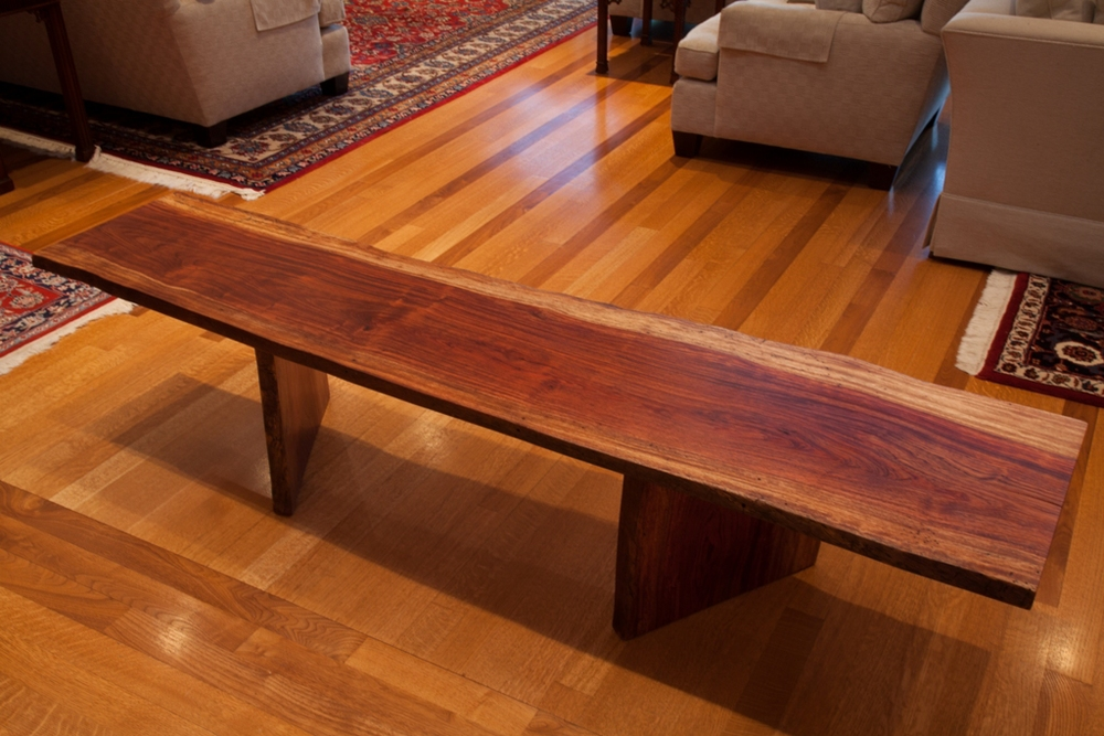African Bubinga Wood Live Edge Table / Bench