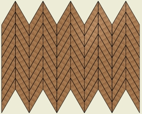 Chevron 30 Degree Points