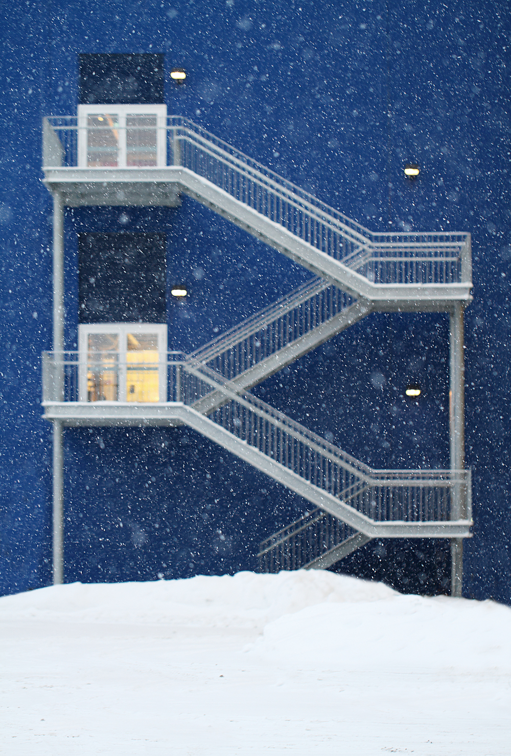 Stairs through the snow Comments