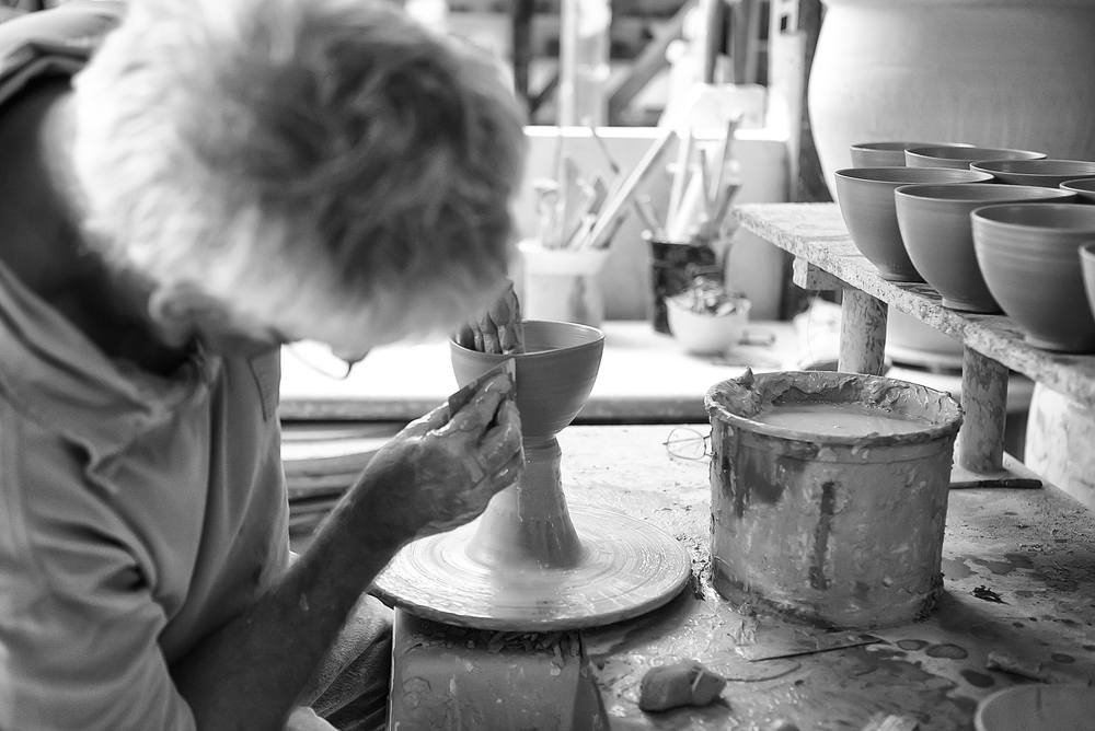 The potter Mogens Falkenberg at work Comments