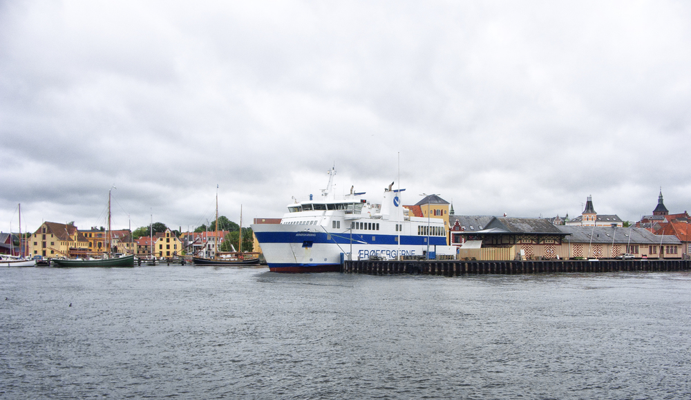 Ferry in harbor Read about Svendborg Comments