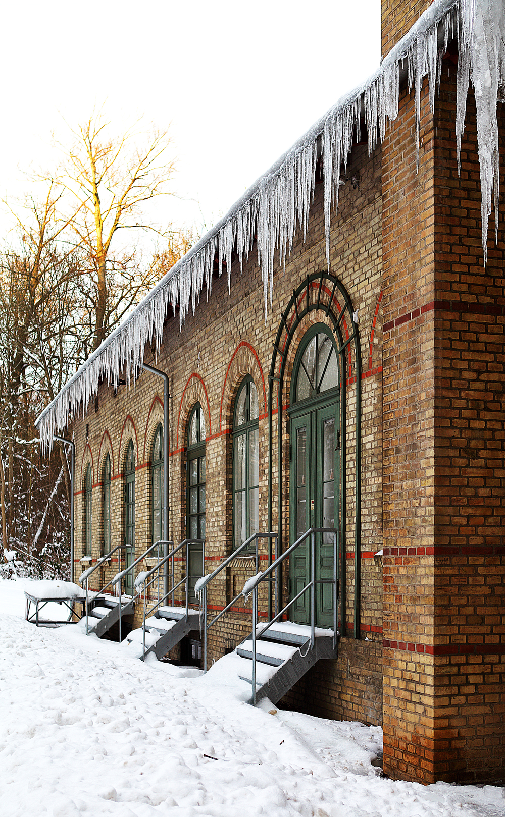 Icicles behind the theater Comments