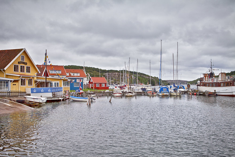 A rainy day Lysekil harbor Comments