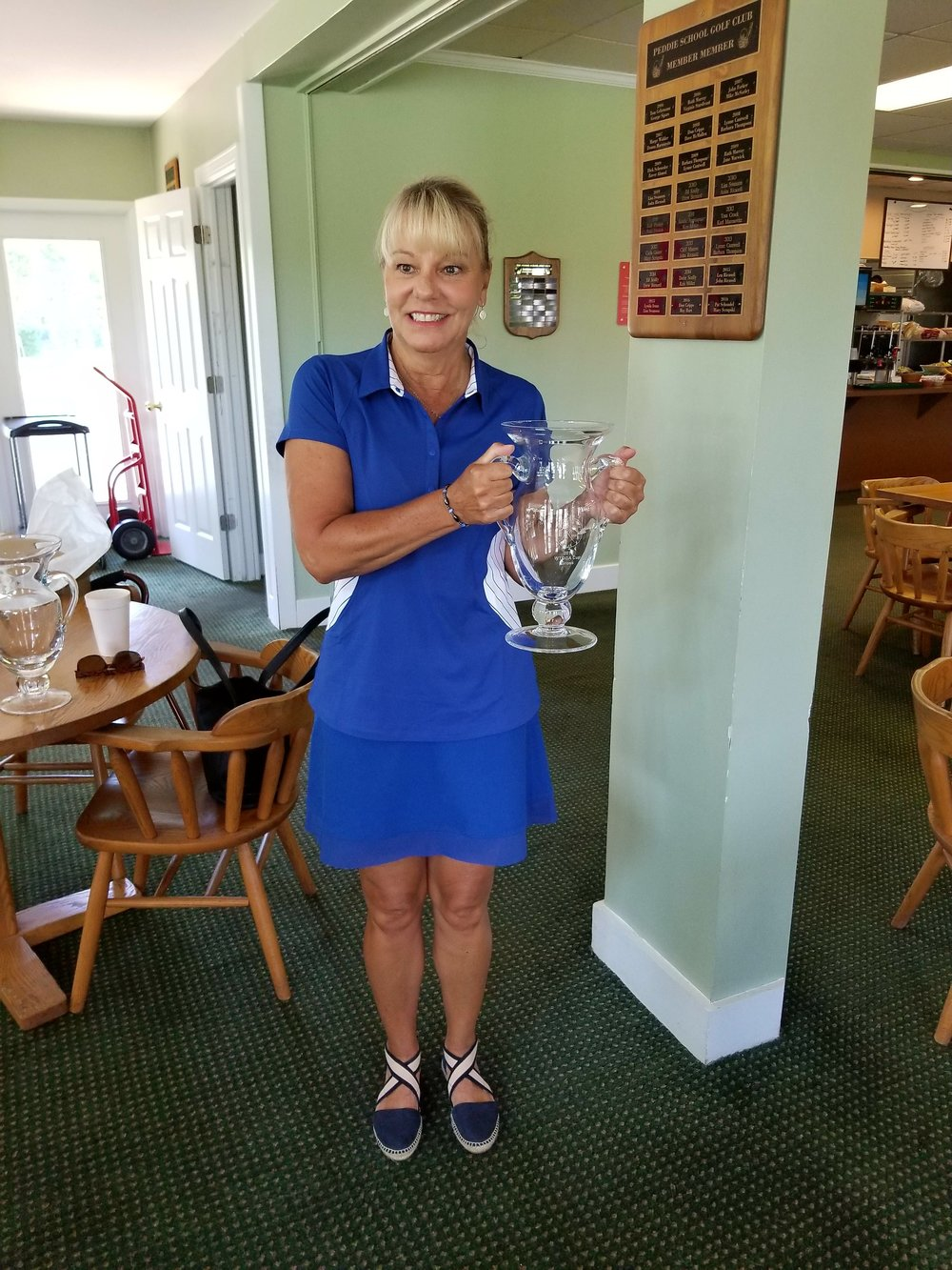 Carol Brophy (Old York)  WTDGA Cup Gross Champion