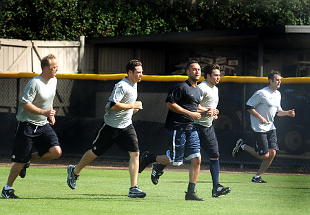 """The five worst words you can say to a pitcher: """"Okay guys, go run poles."""""""