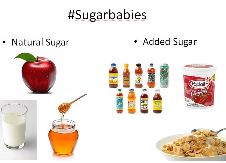 Important distinctions: cut the added, but have the natural sugar