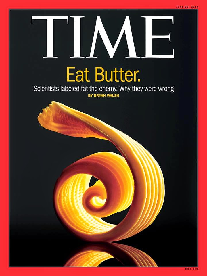 "Let's remember: butter still isn't ""healthy.""  But it alone won't kill you."