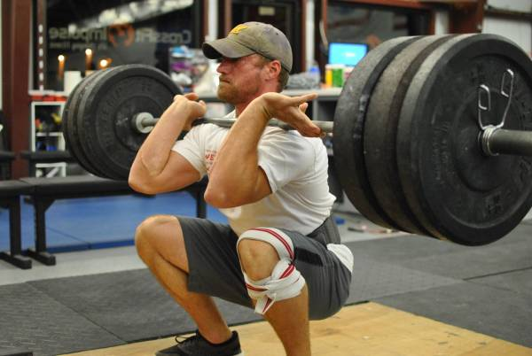 The barbell front squat: a great exercise, but too rough for many desk sitters.