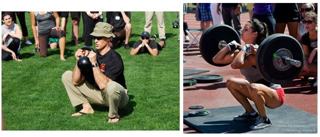 Are these all that different? And yes, a properly executed squat WILL most likely bring your knees past your toes.