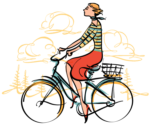 The beautiful French Bicycliste