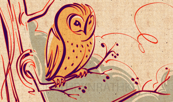 in folklore, owls shepherd spirits safely to the underworld