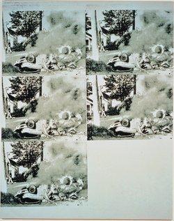 Andy Warhol,Burning White Car III