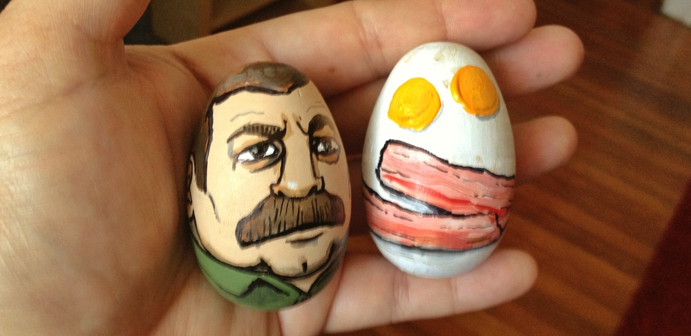 Ron Swanson and Bacon and Eggs