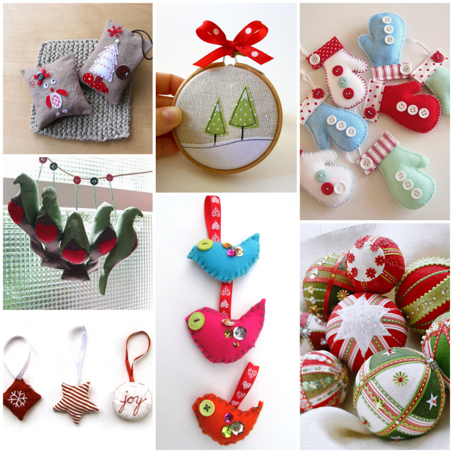 christmas tree decorations sewing christmas decorating