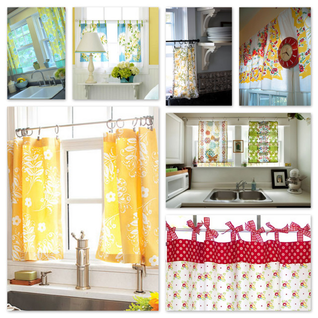 Inspiration: Kitchen Curtains To Sew
