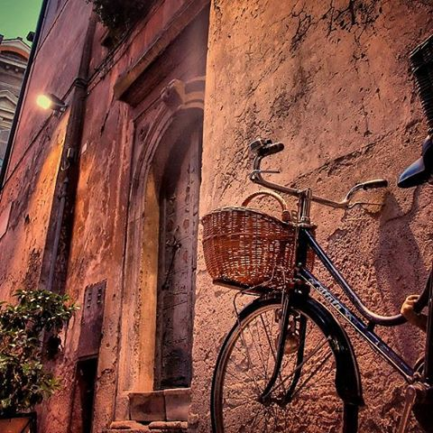 #ciao #bella #bicycle in #rome #italy #travel #everyday #explore #city #ancient #building #texture #stone