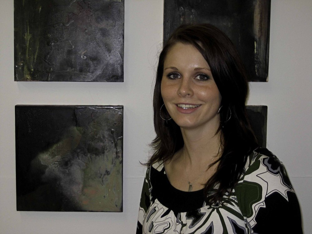 Jenna wagner's Graduation Art Show from Emily Carr University 2009. Acrylic Paintings.