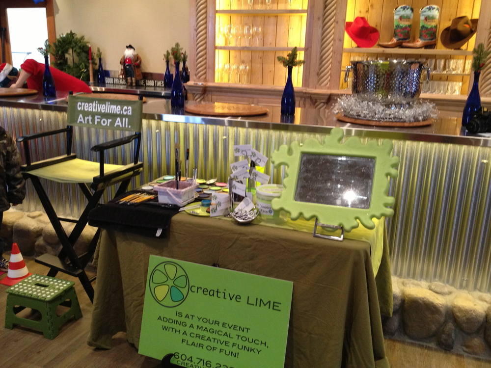 Creative LIME's set up at Pancake Breakfast with Santa Dec 16th, 2012