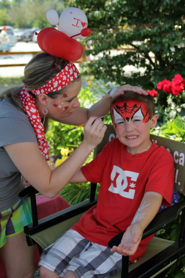 Creative LIME Canada Day Face Painting at Krause Berry Farms
