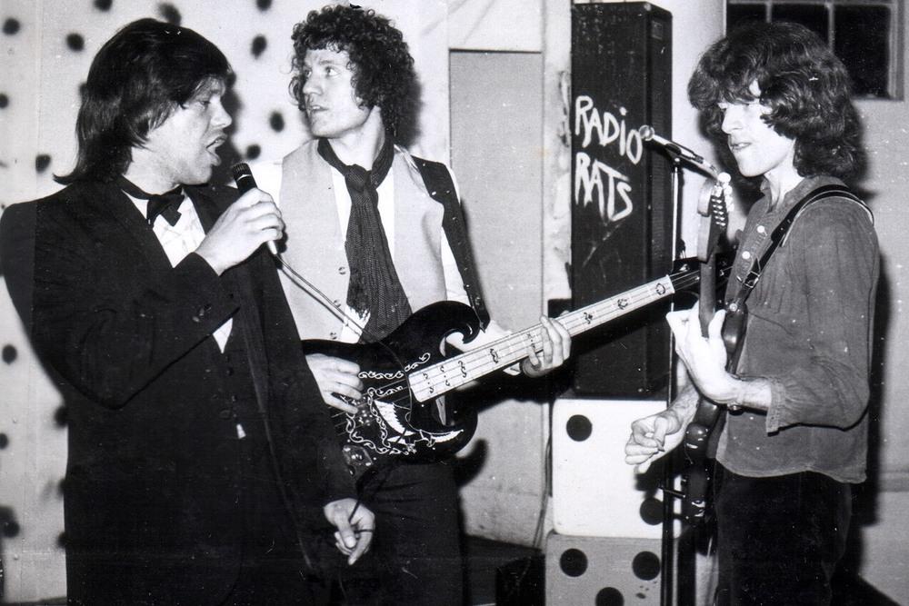 Radio Rats 1977 (L-R) Dave Davies, Herbie Parkin and Jonathan Handley.jpg