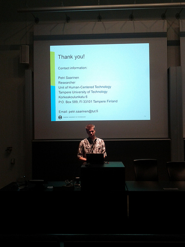 And thank you for a nice presentation Petri.