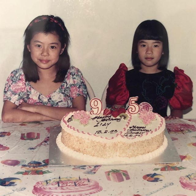This is how my parents celebrated our birthdays when we were kids. Happy late birthday @lilyxcookie and happy birthday to me! 😜 #notimpressed
