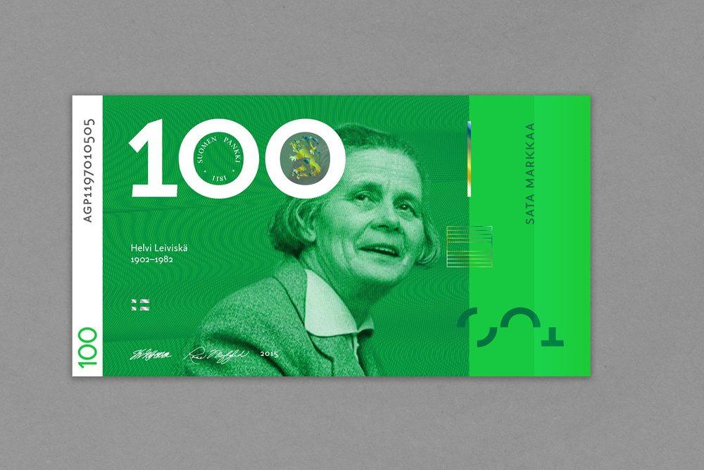 Sadan markan setelissä yksi harvoja suomalaisia naissäveltäjiä:Helvi Leiviskä.