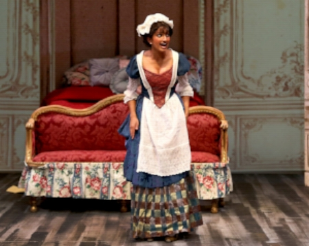 Maya performing as  Susanna  in Mozart's  Le Nozze de Figaro