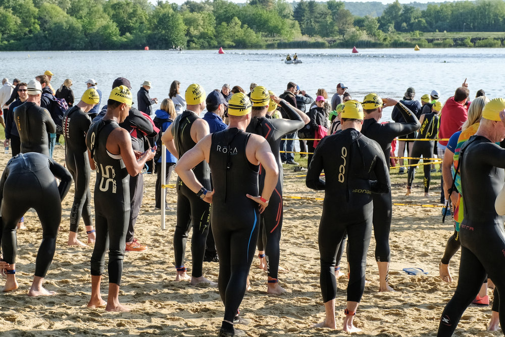 Ready for the start of the swim leg