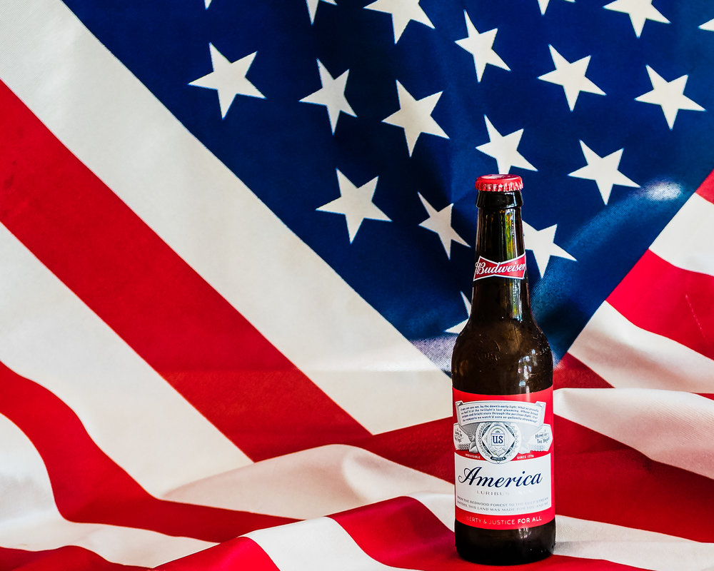Flag and America Beer