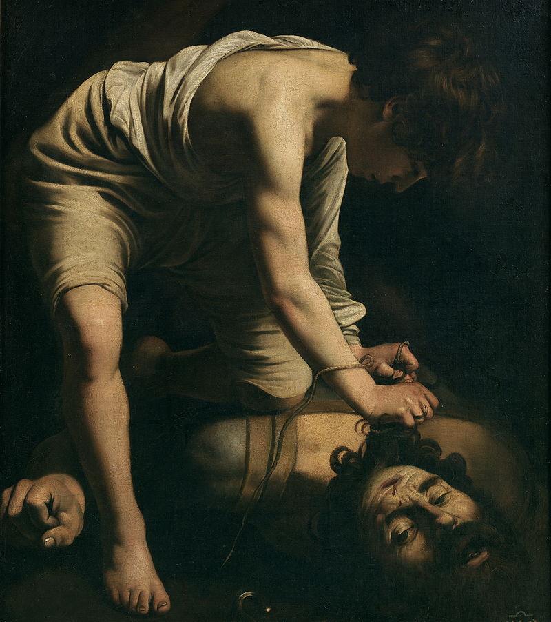 Caravaggio.  David e Golias , 1599.